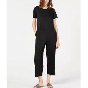 Eileen Fisher Short Sleeve Pocket Rndnk Jumpsuit M
